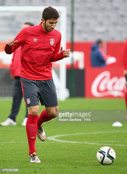 Marko Grujic of Serbia during a Serbia training session at Otago Stadium prior to the FIFA U20 World Cup on May 30 2015 in Dunedin New Zealand