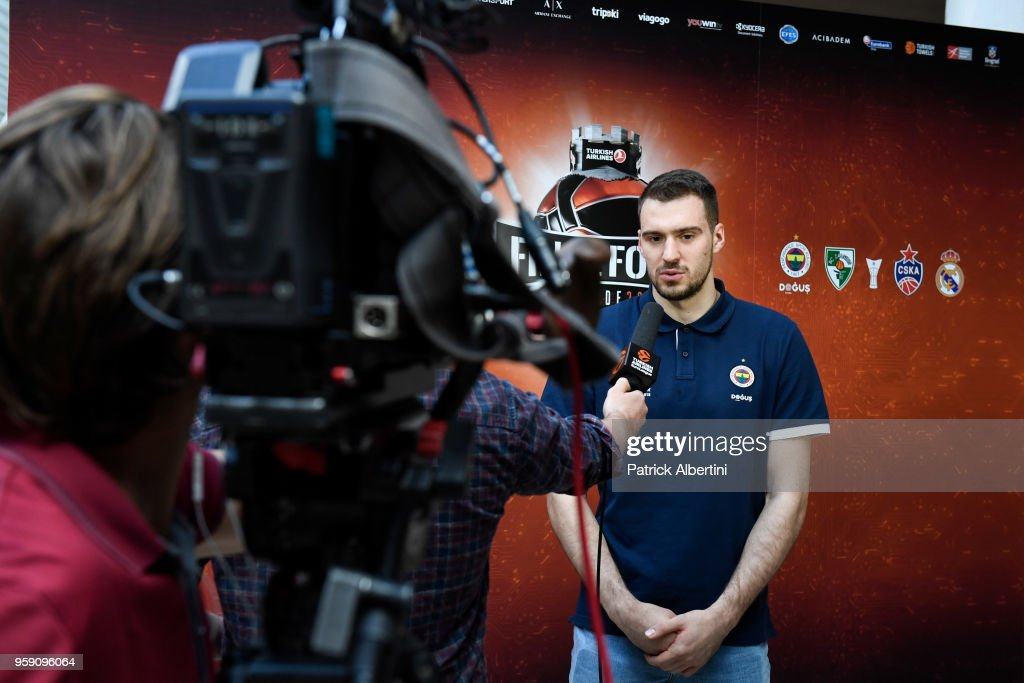 Marko Guduric, #23 of Fenerbahce Dogus Istanbul during the Fenerbahce Dogus Istanbul Arrival to participate of 2018 Turkish Airlines EuroLeague F4 at Hyatt Regency Hotel on May 16, 2018 in Belgrade, Serbia.