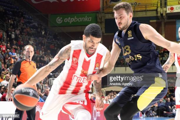 Marko Guduric of Fenerbahce Dogus in action against during the Turkish Airlines Euroleague week 28 basketball match between KK Crvena Zvezda and...