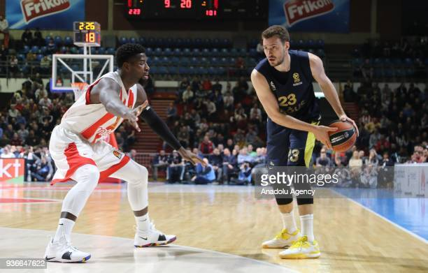 Marko Guduric of Fenerbahce Dogus in action during the Turkish Airlines Euroleague week 28 basketball match between KK Crvena Zvezda and Fenerbahce...