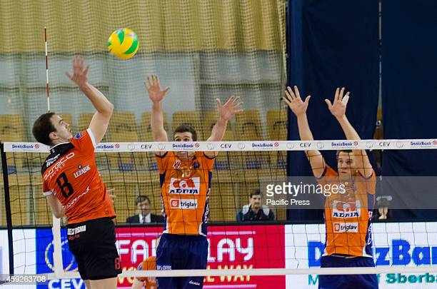 Marko Ivovic striking point for Asseco Resovia in match against ACH Volley