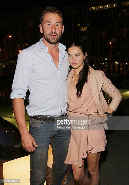 Marko Jaric and Adriana Lima attend a party hosted by Zeelander Yachts welcoming the Zeelander Z68 during the Miami International Boat Show on...