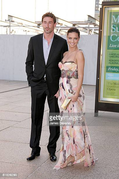 Marko Jaric and Adriana Lima attend the American Ballet Theatre's Noche Latina peformance of Don Quixote on June 10 2008 at the Metropolitan Opera...