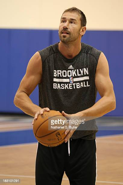 Marko Jaric of the Brooklyn Nets practices during NBATV's Real Training Camp in Durham North Carolina NOTE TO USER User expressly acknowledges and...