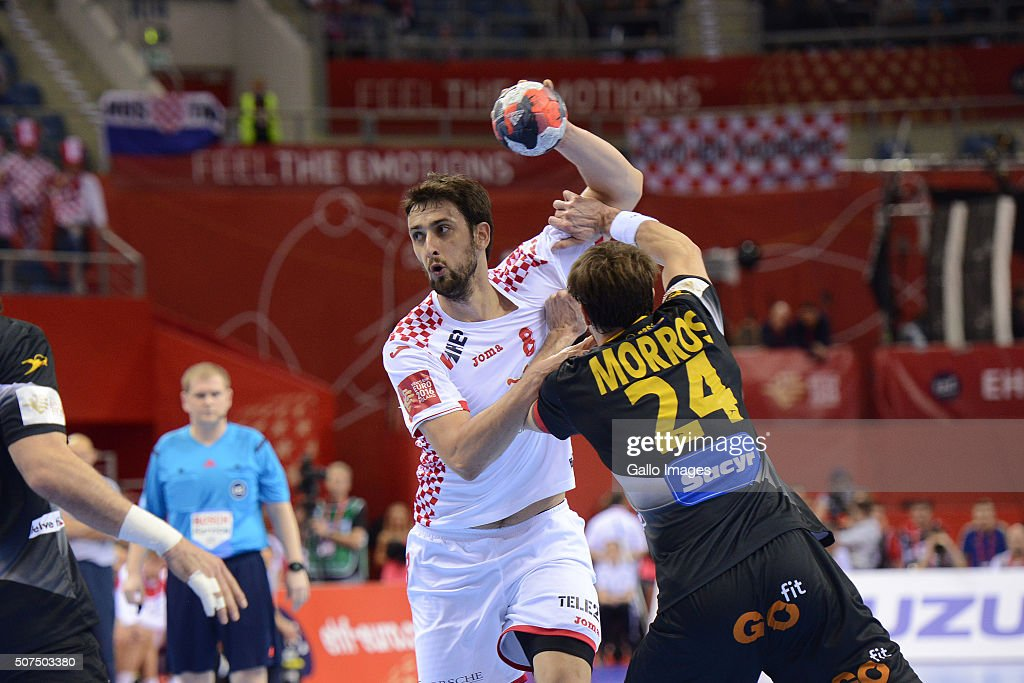 2016 EHF European Men's Handball Championship, Semi-final: Spain v Croatia