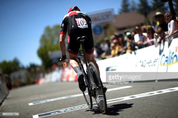 Marko Kump of Slovenia riding for UAE Team Emirates rides during stage five of the AMGEN Tour of California from Ontario to Mt. Baldy on May 18, 2017...