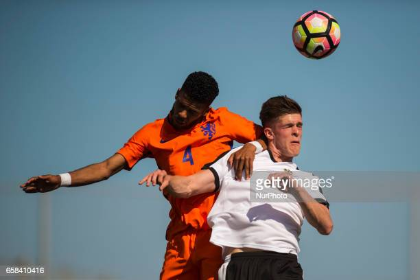 Marko Kvasina Damian Van Bruggen during the friendly match of national teams U21 of Austria vs The Netherlands in Pinatar Arena Murcia SPAIN March...