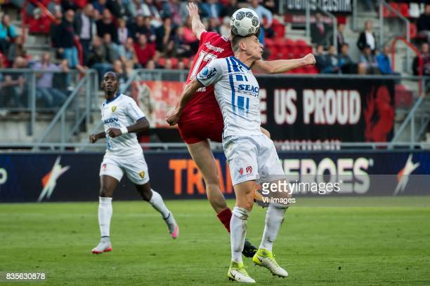 Marko Kvasina of FC Twente Danny Post of VVV during the Dutch Eredivisie match between FC Twente and VVV Venlo at the Grolsch Veste on August 19 2017...