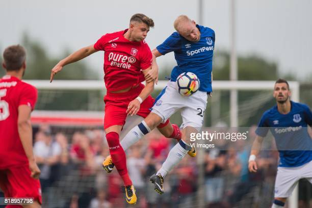 Marko Kvasina of FC Twente Davy Klaassen of Everton FC during the friendly match between FC Twente and Everton FC at sportpark De Stockakker on July...