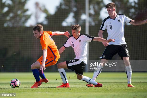 Marko Kvasina Sandro Ingolitsch Calvin Verdonk during the friendly match of national teams U21 of Austria vs The Netherlands in Pinatar Arena Murcia...