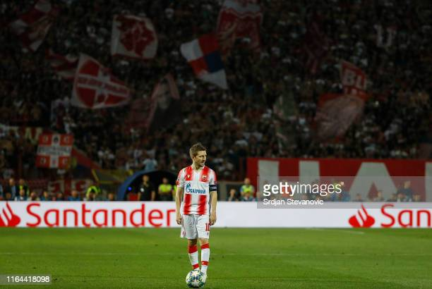 Marko Marin of Crvena Zvezda in action during the UEFA Champions League Play Off Second Leg match between Crvena Zvezda and Young Boys at stadium...