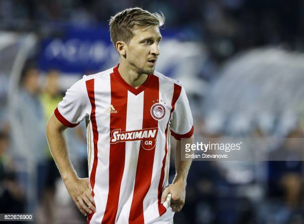 Marko Marin of Olympiacos in action during the UEFA Champions League Qualifying match between FC Partizan and Olympiacos on July 25 2017 in Belgrade...
