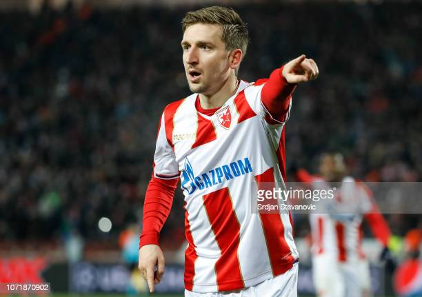 Marko Marin of Red Star Belgrade reacts during the UEFA Champions League Group C match between Red Star Belgrade and Paris SaintGermain at Rajko...