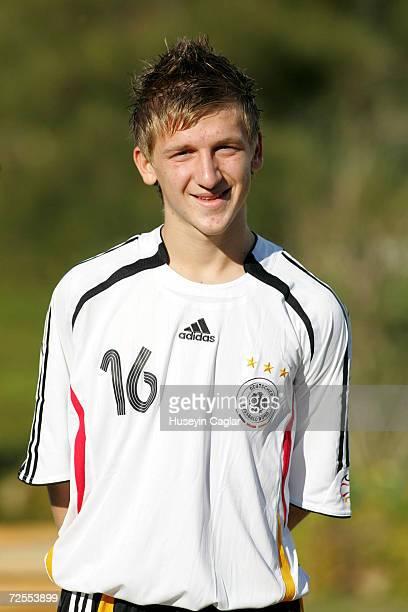 Marko Marin of the U18 German National Team during a photo call at the Suermeli Efes Hotel on November 15 2006 in Izmir Turkey