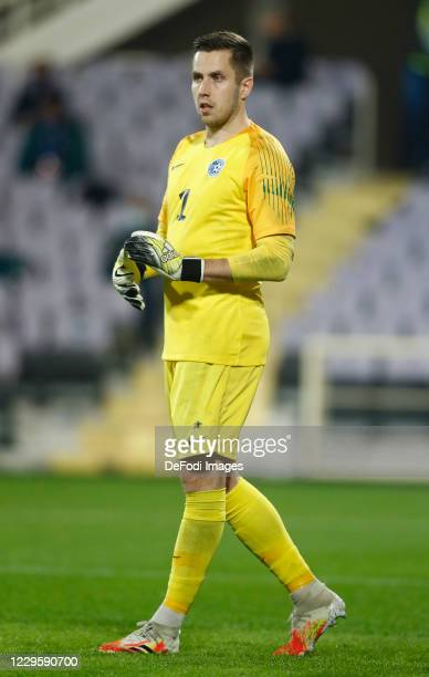 Marko Meerits of Estonia looks on during the International Friendly match between Italy and Estonia at Stadio Artemio Franchi on November 11, 2020 in...