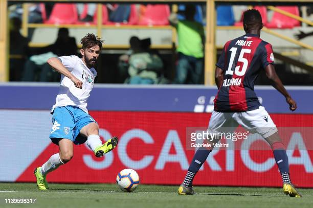 Marko Pajac of Empoli FC in action during the Serie A match between Bologna FC and Empoli at Stadio Renato Dall'Ara on April 27 2019 in Bologna Italy
