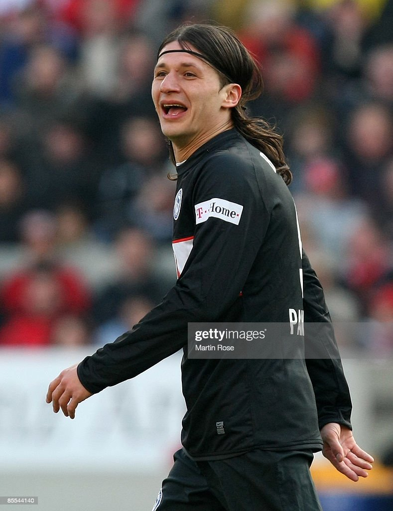 Marko Pantelic of Berlin reacts during the Bundesliga match between VfB Stuttgart and Hertha BSC Berlin at the Mercedes-Benz Arena on March 21, 2009 in Stuttgart, Germany.