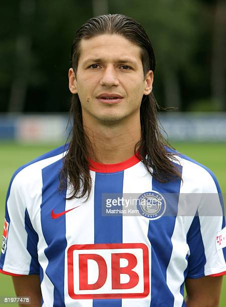 Marko Pantelic poses during the Hertha BSC Berlin Team Presentation on July 18 2008 in Berlin Germany
