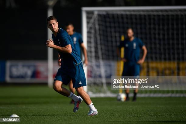 Marko Pjaca during a Juventus training session on October 9 2017 in Vinovo Italy