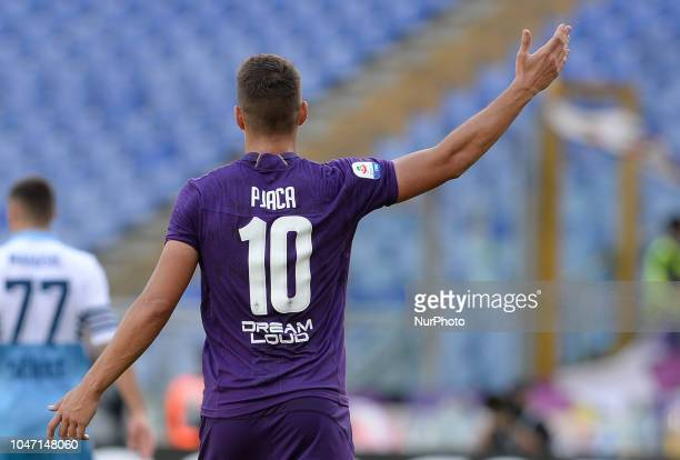 Marko Pjaca during the Italian Serie A football match between SS Lazio and Fiorentina at the Olympic Stadium in Rome on october 07 2018