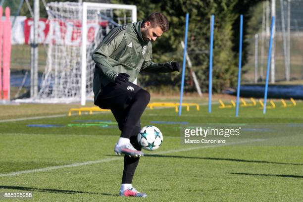 Marko Pjaca of Juventus FC during the Juventus FC training on the eve of the UEFA Champions League football match between Olympiakos and Juventus FC