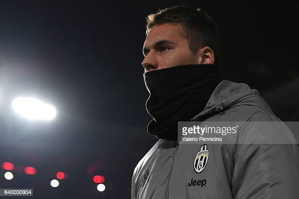 Marko Pjaca of Juventus FC looks on during the TIM Cup match between Juventus FC and AC Milan at Juventus Stadium on January 25 2017 in Turin Italy