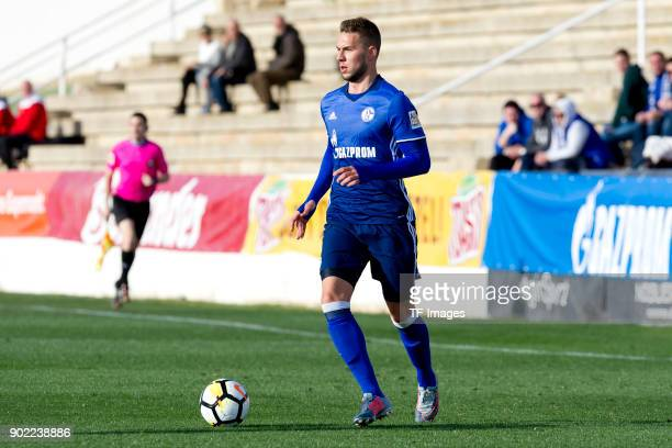 Marko Pjaca of Schalke controls the ball during the Friendly match between FC Schalke 04 and KRC Genk at Estadio Municipal Guillermo Amor on January...