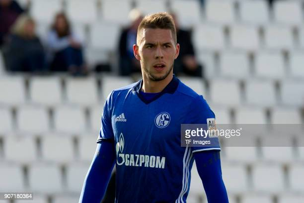 Marko Pjaca of Schalke looks on during the Friendly match between FC Schalke 04 and KRC Genk at Estadio Municipal Guillermo Amor on January 07 2018...