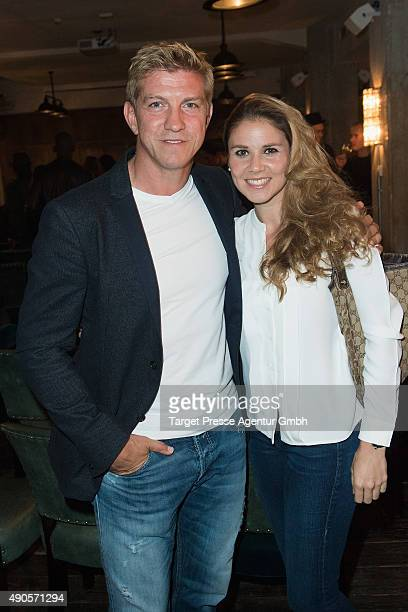 Marko Rehmer and his wife Daniela attend the charity event 'Ein Abend der Magie' by Tom Tailor at Soho House on September 29 2015 in Berlin Germany