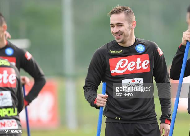 Marko Rog during a training session on December 19 2018 in Naples Italy