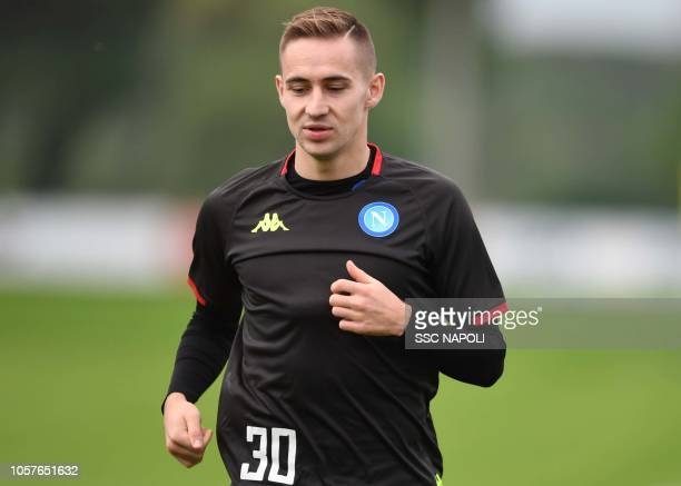 Marko Rog during an SSC Napoli training session on November 5 2018 in Naples Italy