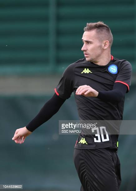 Marko Rog during an SSC Napoli Training Session on October 2 2018 in Naples Italy