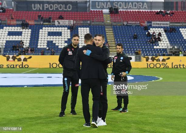 Marko Rog during the Serie A match between Cagliari and SSC Napoli at Sardegna Arena on December 16 2018 in Cagliari Italy