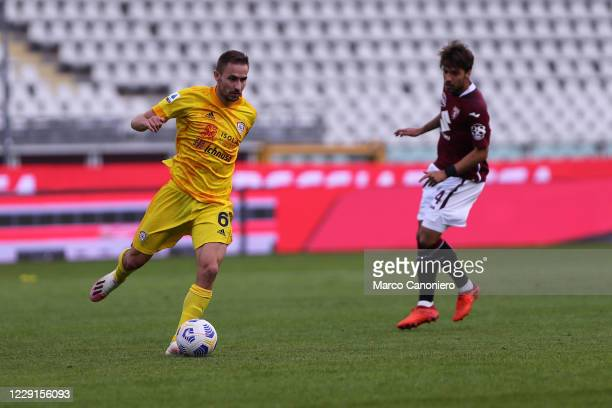 Marko Rog of Cagliari Calcio in action during the Serie A match between Torino Fc and Cagliari Calcio Cagliari Calcio wins 32 over Torino Fc