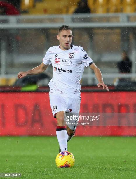 Marko Rog of Cagliari during the Serie A match between US Lecce and Cagliari Calcio at Stadio Via del Mare on November 25 2019 in Lecce Italy