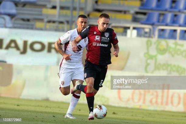Marko Rog of Cagliari in action during the Serie A match between Cagliari Calcio and Torino FC at Sardegna Arena on June 27 2020 in Cagliari Italy