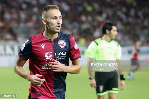 Marko Rog of Cagliari in actionduring the Serie A match between Cagliari Calcio and FC Internazionale at Sardegna Arena on September 1 2019 in...