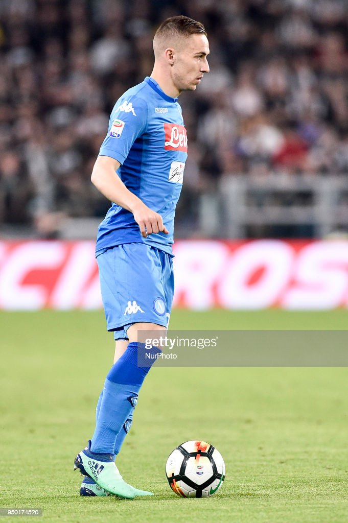 Marko Rog of Napoli during the Serie A match between Juventus and Napoli at Allianz Stadium, Turin, Italy on 22 April 2018.