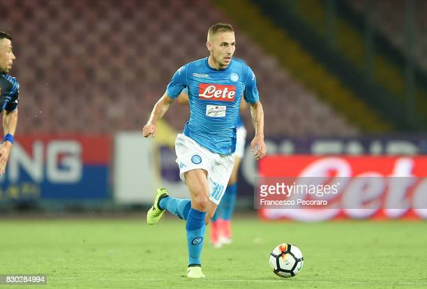 Marko Rog of SSC Napoli in action during the preseason friendly match between SSC Napoli and Espanyol at Stadio San Paolo on August 10 2017 in Naples...