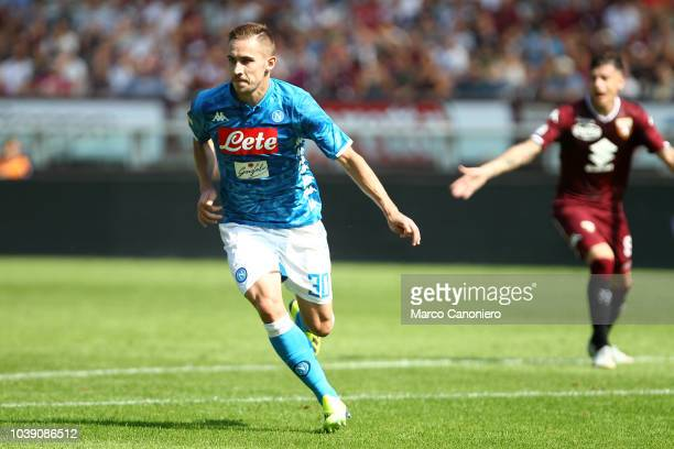 Marko Rog of Ssc Napoli in action during the Serie A football match between Torino Fc and Ssc Napoli