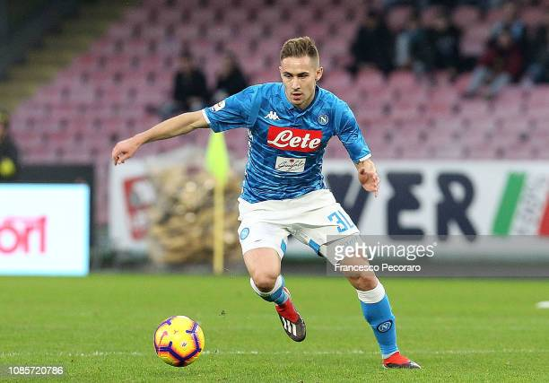 Marko Rog of SSC Napoli in action during the Serie A match between SSC Napoli and Spal at Stadio San Paolo on December 22 2018 in Naples Italy