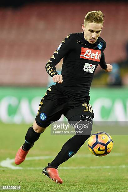 Marko Rog of SSC Napoli in action during the TIM Cup match between SSC Napoli and AC Spezia at Stadio San Paolo on January 10 2017 in Naples Italy