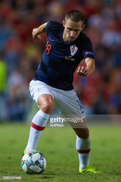 Marko Rog with the ball during the UEFA Nations League football match between Spain and Croatia at Martinez Valero Stadium in Elche on September 11...