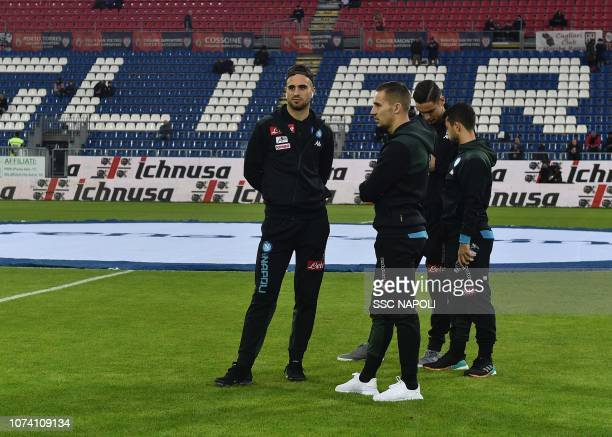 Marko Rognicola Maksimovic during the Serie A match between Cagliari and SSC Napoli at Sardegna Arena on December 16 2018 in Cagliari Italy