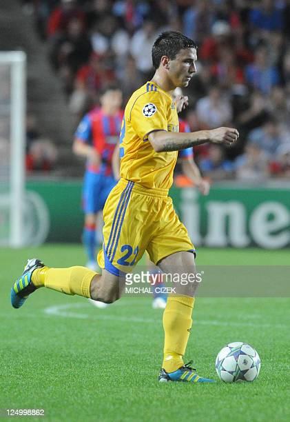 Marko Simic of BATE Borisov plays on September 13 2011 during a UEFA Champions League group H football match against Viktoria Plzen in Prague AFP...