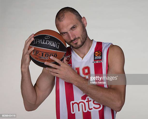 Marko Simonovic #19 of Crvena Zvezda mts Belgrade poses during the 2016/2017 Turkish Airlines EuroLeague Media Day at Kombank Arena on September 19...