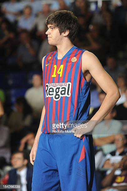 Marko Todorovic #14 of FC Barcelona Regal in action during the 20122013 Turkish Airlines Euroleague Regular Season Game Day 1 between FC Barcelona...