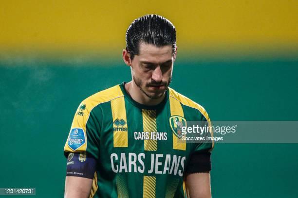 Marko Vejinovic of ADO Den Haag during the Dutch Eredivisie match between ADO Den Haag v RKC Waalwijk at the Cars Jeans Stadium on February 27, 2021...