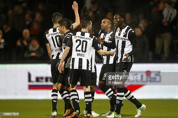 Marko Vejinovic of Heracles Almelo Everton Ramos Da Silva of Heracles Almelo Thomas Bruns of Heracles Almelo Samuel Armenteros of Heracles Almelo...