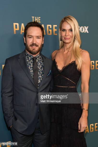 MarkPaul Gosselaar and Catriona McGinn attend Fox's The Passage premiere party at The Broad Stage on January 10 2019 in Santa Monica California